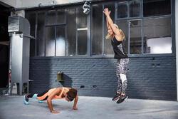 Lange en ademende fitnesstop cardio dames zwart Energy Xtrem - 1113209