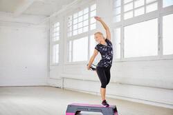 Kuitbroek fitness cardio Energy dames zwart met contrasterende boord - 1113214