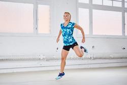 T-shirt regular fitness cardio Energy dames met opdruk - 1113216