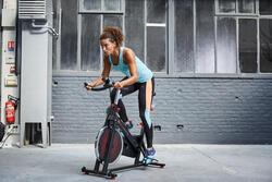 Lange en ademende fitnesstop cardio dames zwart Energy Xtrem - 1113510