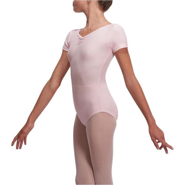Justaucorps de danse classique manches courtes noir fille - 1113528
