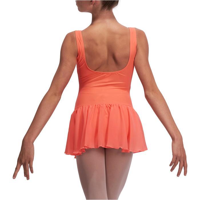 Justaucorps de danse classique DÉLIA avec jupette intégrée fille - 1113529