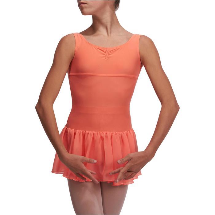 Justaucorps de danse classique DÉLIA avec jupette intégrée fille - 1113546