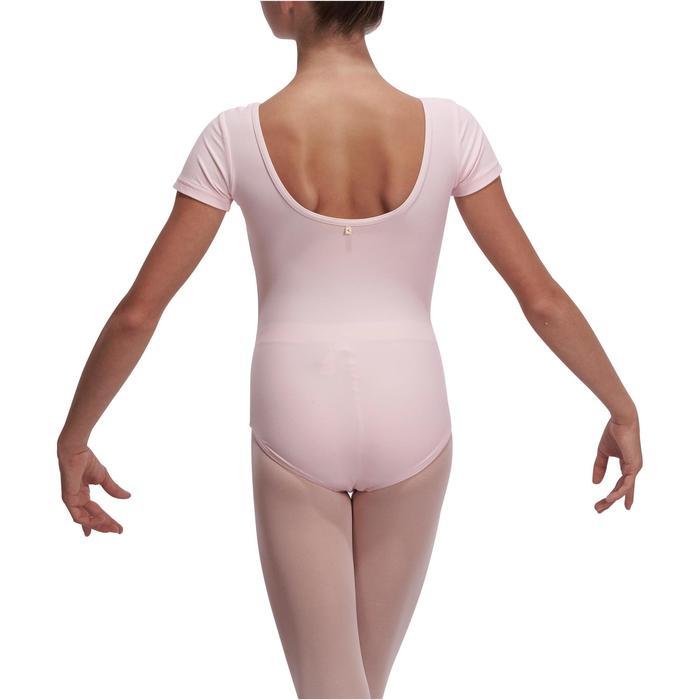 Justaucorps de danse classique manches courtes noir fille - 1113550