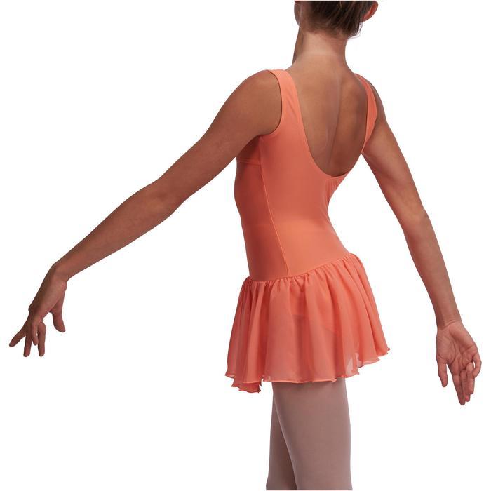 Justaucorps de danse classique DÉLIA avec jupette intégrée fille - 1113554