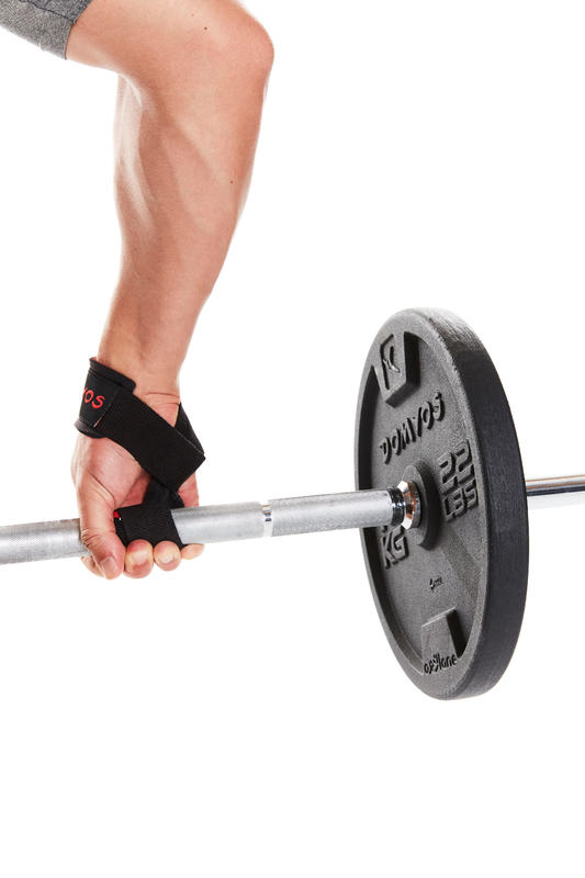 Weight Training Deadlift Pull-Up Strap - Black/Red