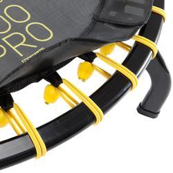 Trampolín Cama Elástica Domyos 900 PRO 90 cm hasta 130 kg negro amarillo