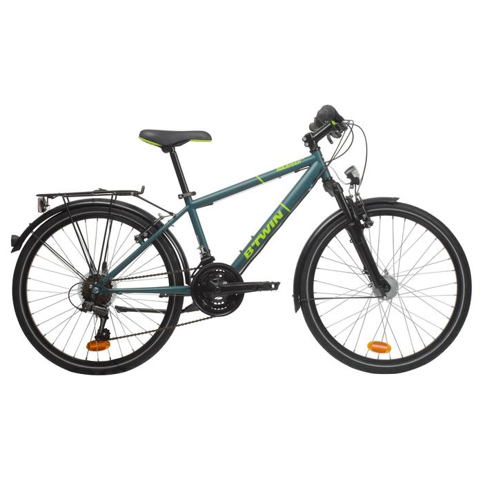 """Kinderfahrrad 24"""" City Bike Rockrider 540 24'' petrol/neongelb"""