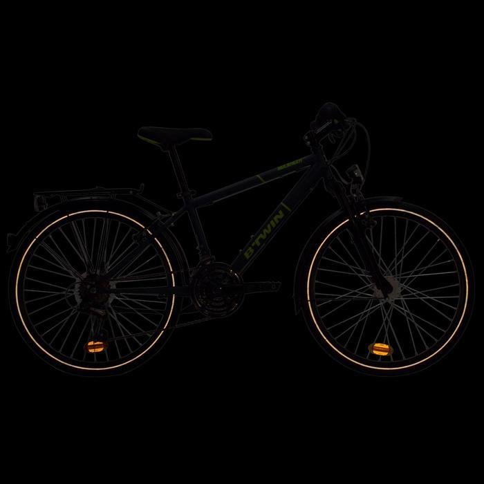 """Kinderfahrrad City Bike 24"""" Rockrider 540 petrol/neongelb"""