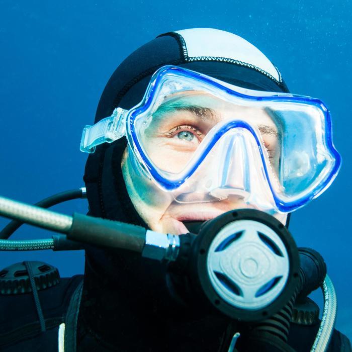 Masque de plongée sous-marine Pure Vision bleu - 1114407