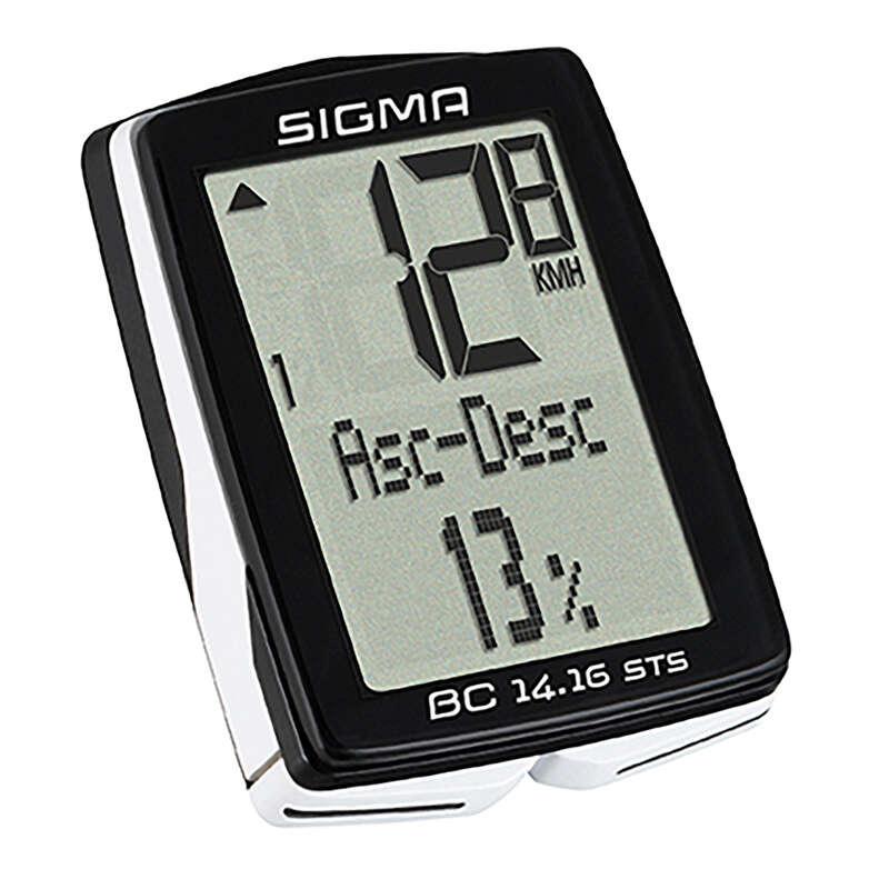 CONTOARE BICICLETĂ Ciclism - Ciclocomputer BC 14.16 STS/CAD SIGMA SPORT - Accesorii ciclism