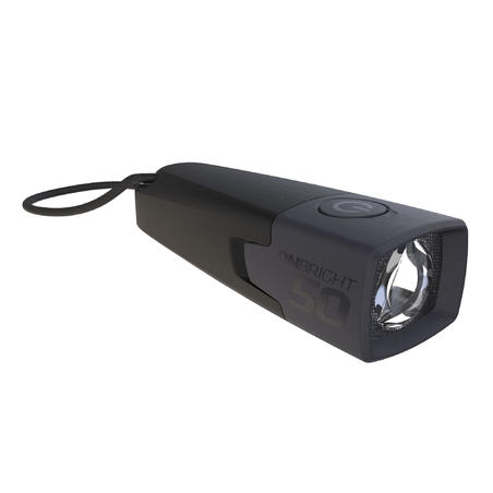 Onbright 50 10-Lumen Battery-Operated Camp Flashlight Black