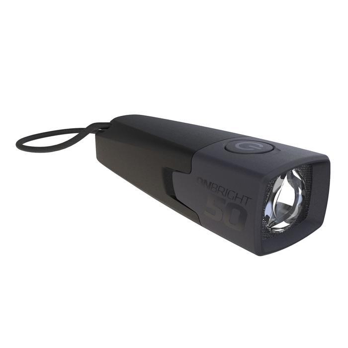 Lampe torche de bivouac à pile - ONBRIGHT 50 noire - 10 lumens