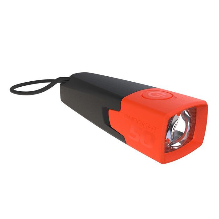 Lanterna de Trekking/Campismo com Pilha - ONBRIGHT 50 - 10 lúmenes - Laranja