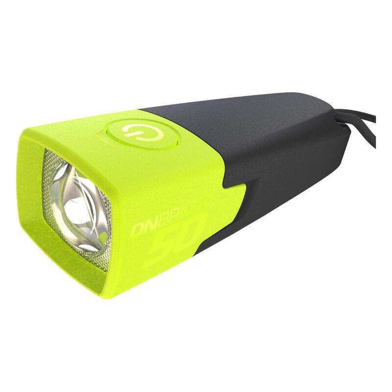 Zaklamp op batterijen voor wandel- en trektochten ONBRIGHT 50 geel