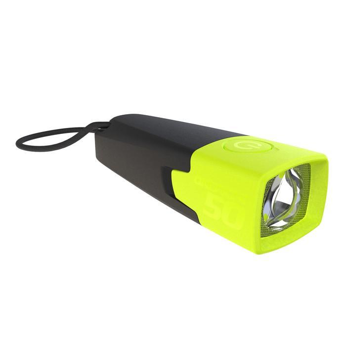 Zaklamp ONbright 50 voor wildkamperen geel - 10 lumen