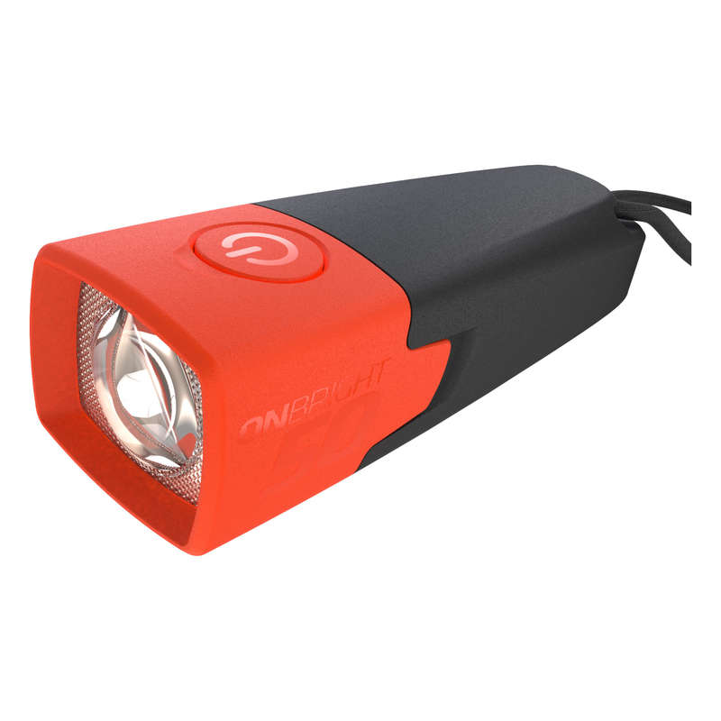 TORCH LAMPS HIKING/TREK Hiking - ONBRIGHT TORCH 50 - Orange FORCLAZ - Hiking Gear and Equipment