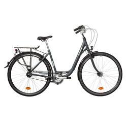 """City Bike 28"""" Elops 900 LF tiefer Einstieg grau"""