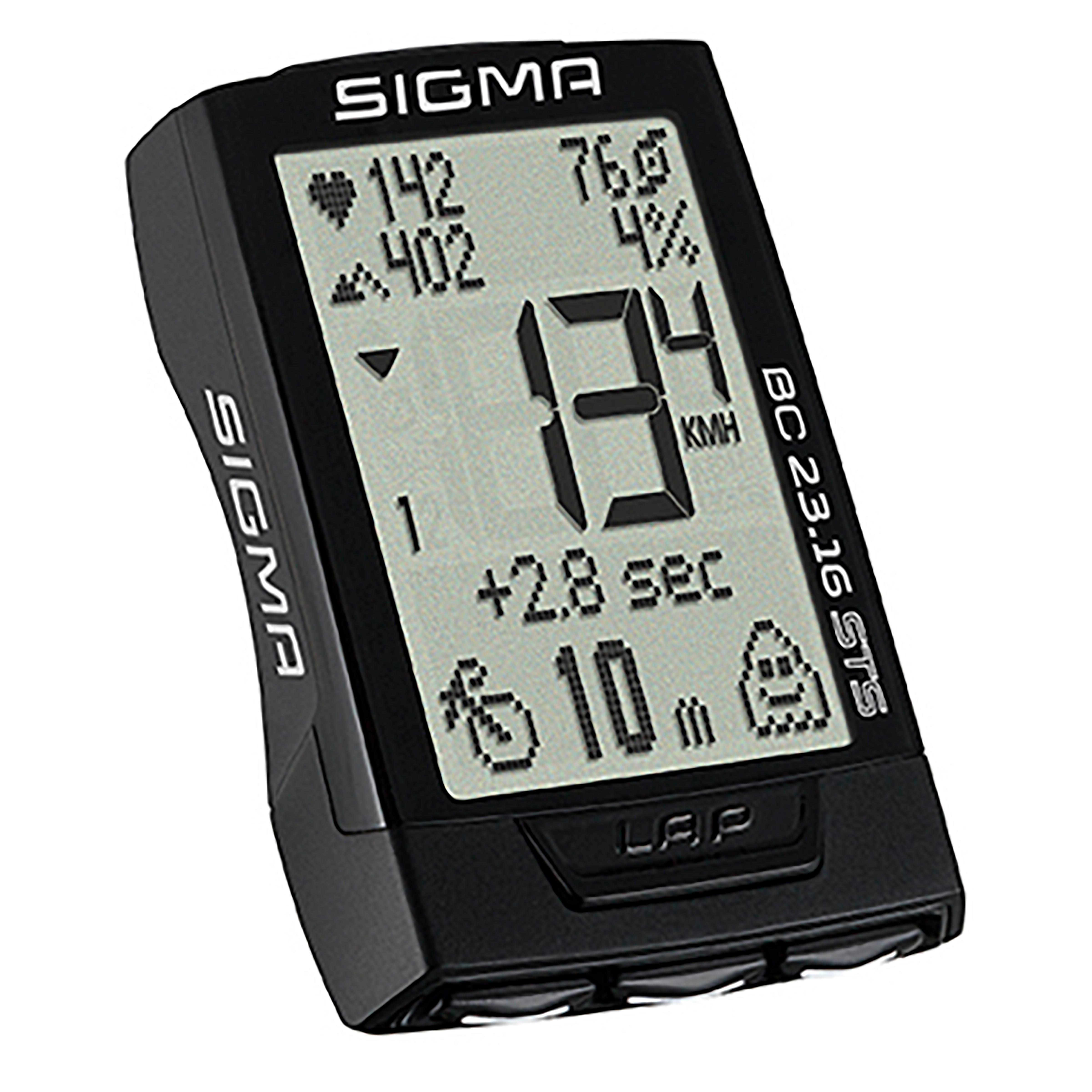 Sigma sport Draadloze fietscomputer BC 23.16 met hartslag, trapfrequentie en hoogtemeting