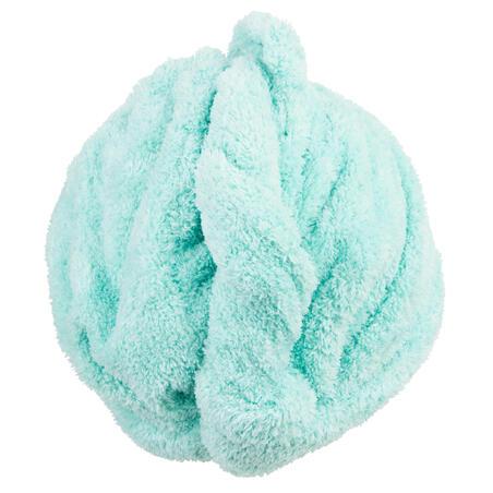 Mīksts mikrošķiedras dvielis matiem, gaiši zaļš