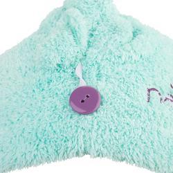 Zachte microvezel haar handdoek blauw groen