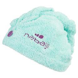 Serviette cheveux bleu/vert en microfibre douce