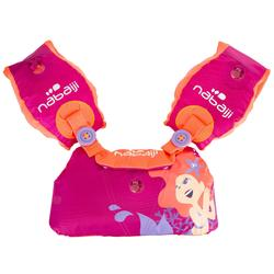 "Pink child's TISWIM adaptable armband-waistbands printed ""SIRENE"""