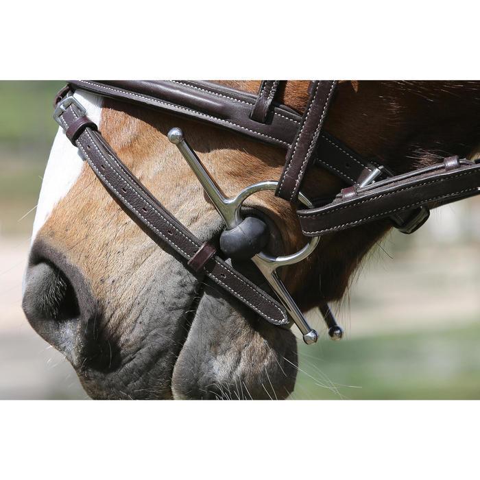 Kneveltrens in rubber ruitersport - maat pony en paard