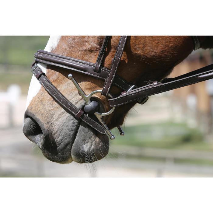 Mors équitation cheval et poney à aiguille en caoutchouc