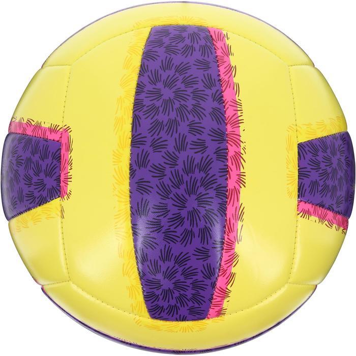 Ballon de beach-volley BV100 jaune et violet