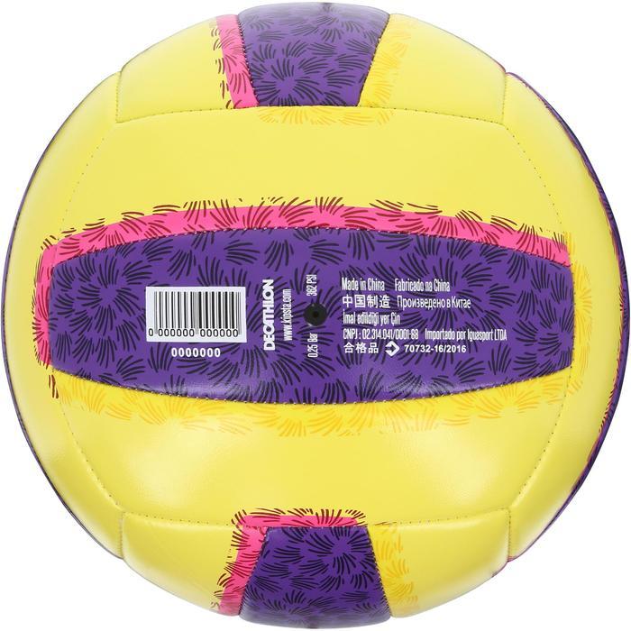 Balón de vóley playa BV100 amarillo y violeta