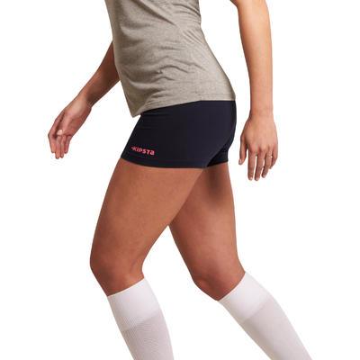 Short de volley-ball femme Lady bleu et rose