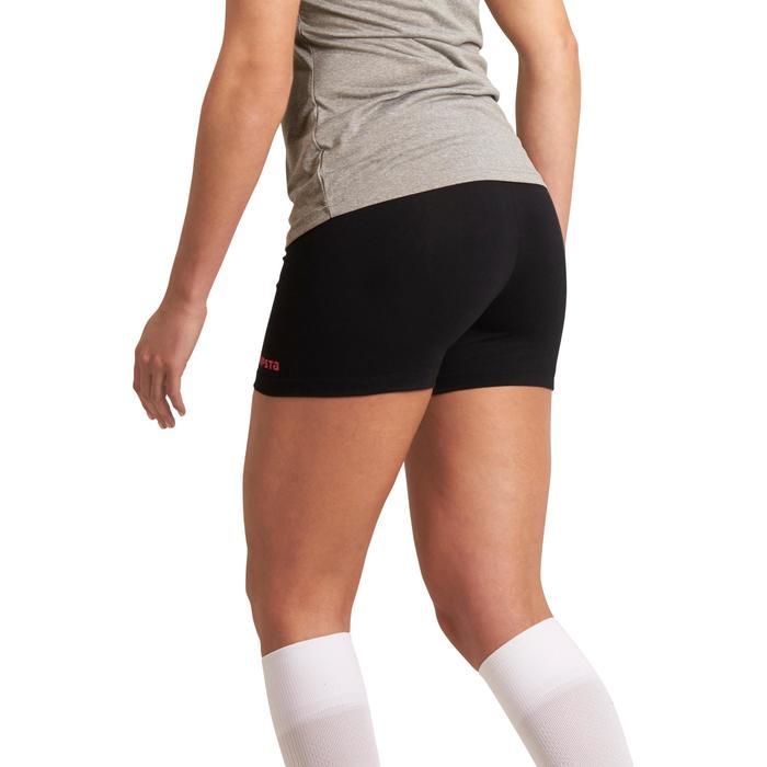 Short de voleibol mujer Lady negro y rosa