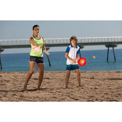 Beachtennis-Schläger-Set Woody Rackets rot