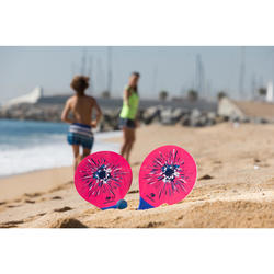 Beachtennis set Woody rackets roze