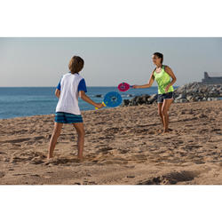 Beachtennis set Woody rackets blauw
