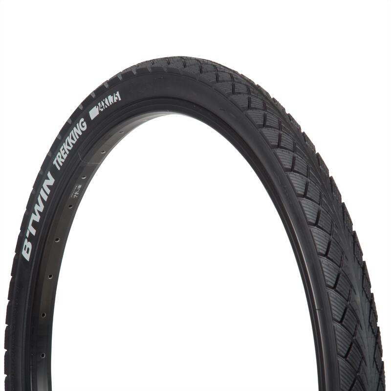 ยางจักรยานเทรคกิ้งแบบขอบยางเสริมแรงขนาด 24x1.75 / ETRTO 44-507