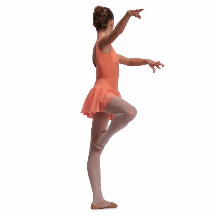 Justaucorps de danse classique DÉLIA avec jupette intégrée fille - 1115256