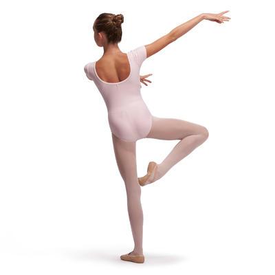 Girls' Short-Sleeved Ballet Leotard - Light Pink