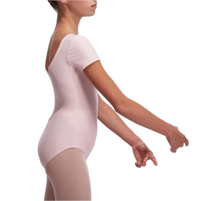 Justaucorps de danse classique manches courtes noir fille - 1115260