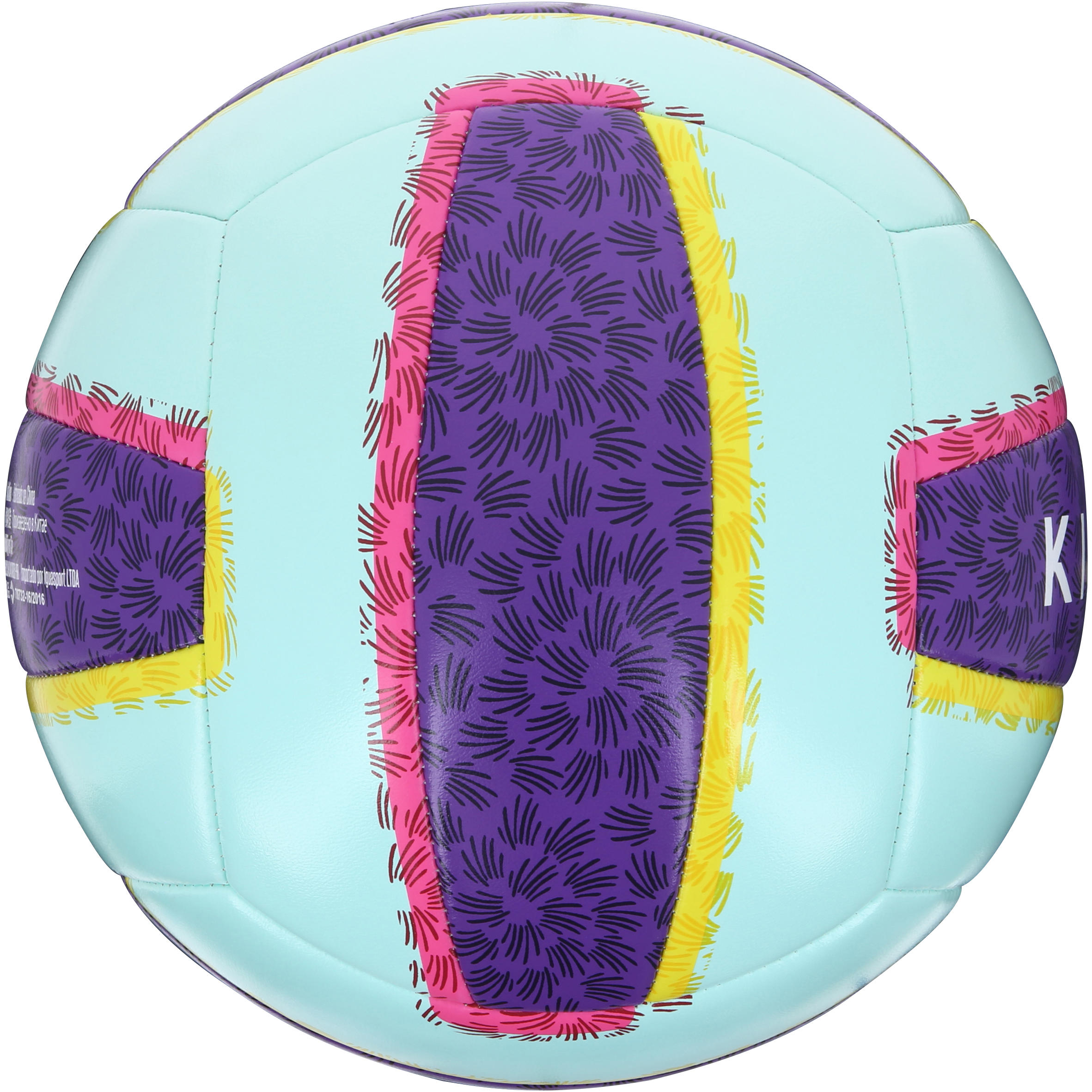 Ballon de beach-volley extérieur Rio Illusion bleu