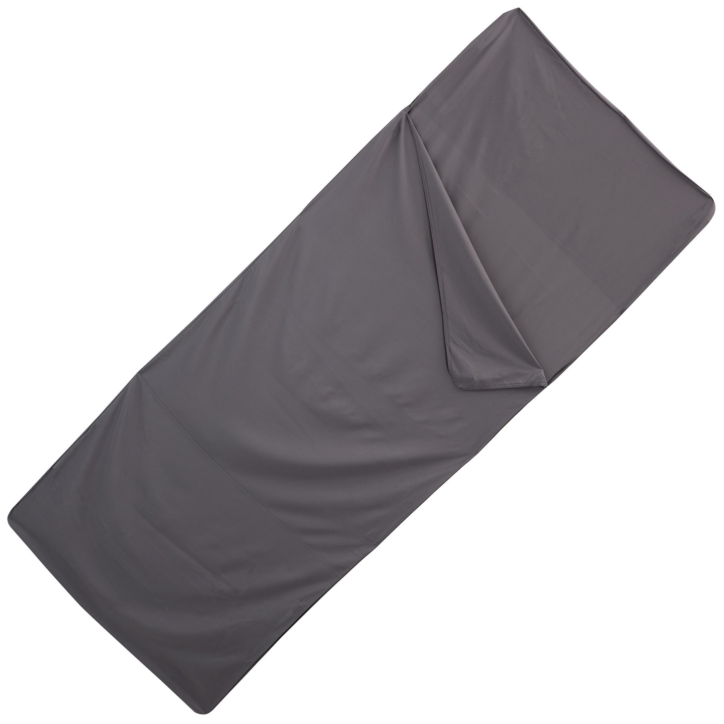 Sábana para bolsa de dormir, poliéster gris