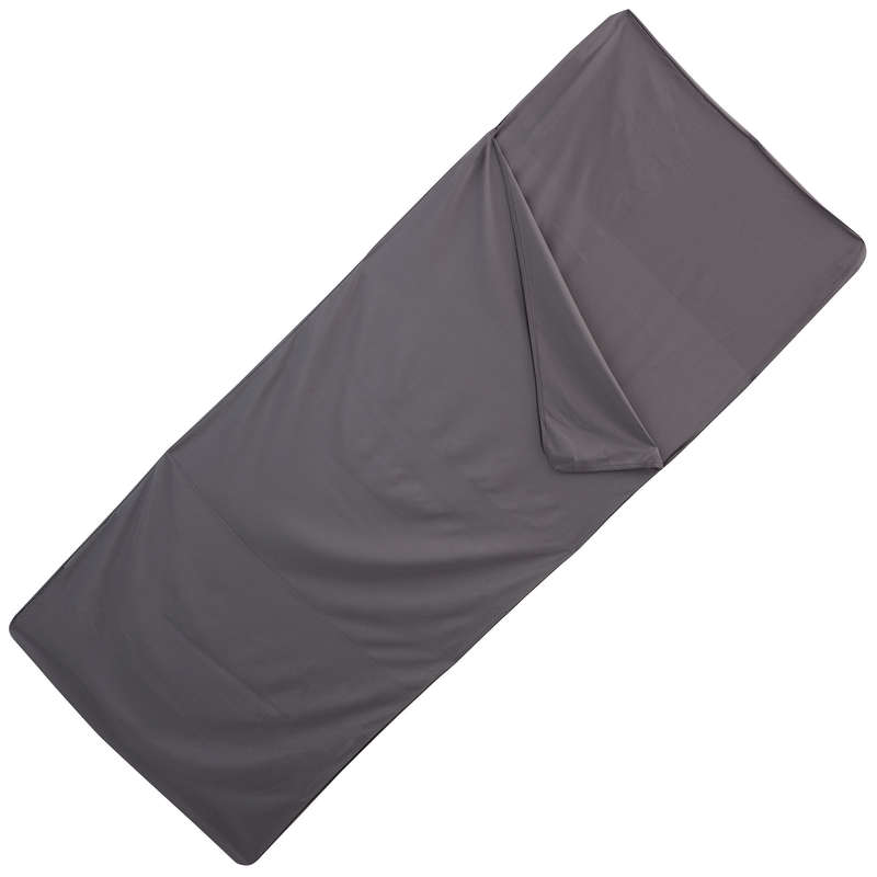 BASE CAMP SLEEPING BAGS Camping - Polyester SB liner - Grey QUECHUA - Sleeping Equipment