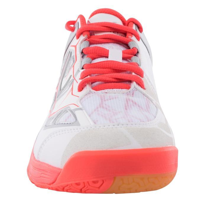 BS860 女性羽毛球運動鞋 - 白色/珊瑚色
