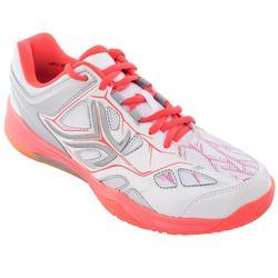Badmintonschoenen voor dames Artengo BS860 wit/koraal