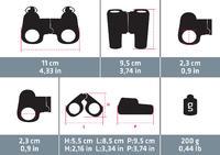 Kids' no-adjustment hiking binoculars MH B100 x6 magnification - Orange