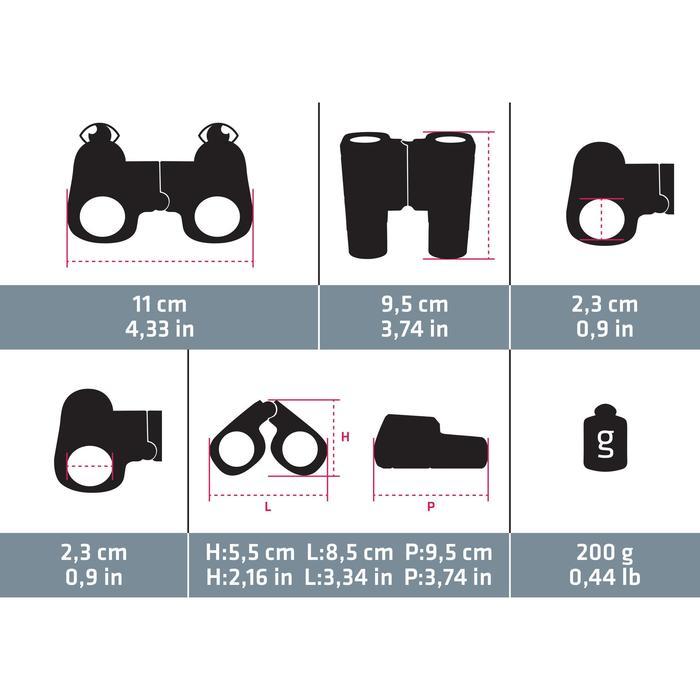Wandelverrekijker voor kinderen Fix Focus MH B 100 vergroting x 6 grijs