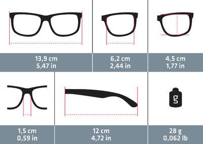 Walking 400W Fitness Walking Sunglasses Category 3 - Brown