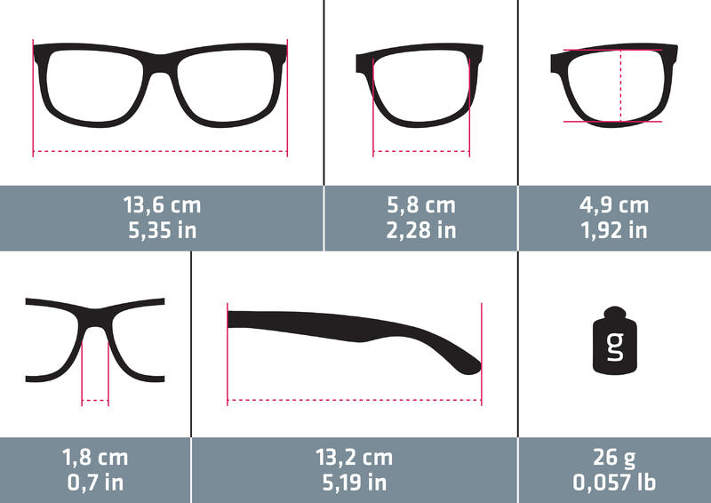 Hiking Sunglasses MH120A Category 3 - Grey