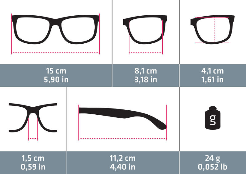 Cycling 100 Adult Cycling Sunglasses Category 3 - Grey